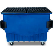 Toter 3 Cubic Yard Front Loading Dumpster W/ Bumpers, Blue - FR030-00705