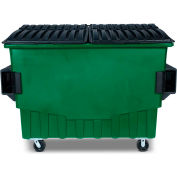 Toter 3 Cubic Yard Front Loading Dumpster W/ Bumpers, Waste Green - FR030-00925