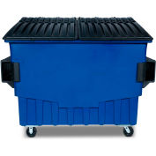Toter 4 Cubic Yard Front Loading Dumpster W/ Bumpers, Blue - FR040-00705