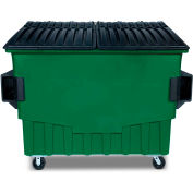 Toter 4 Cubic Yard Front Loading Dumpster W/ Bumpers, Waste Green - FR040-00925