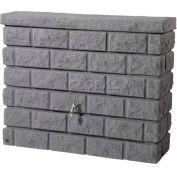 Brick Wall Rain Barrel 326130, 105 Gal., Grey
