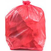 Conductive Trash Liners, 22 Gallon, 2 Mil, Rose, Pack de 100 - WBAS44-LP