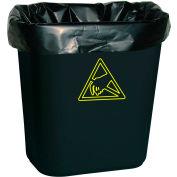 Conductive Trash Liners WBASLB Black, 7-10 Gal