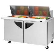 """Super Deluxe Series - Mega Top Sandwich/Salad Table 60-1/4""""W - 2 Door"""
