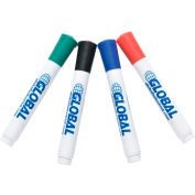 Global Industrial™ Dry Erase Markers, Bullet Tip 4ct - Assorted Colors - Qty 5 Packs