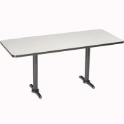 """Interion® Counter Height Restaurant Table, 60""""Lx30""""W, Gray"""