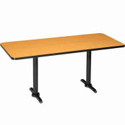 """Interion® Counter Height Restaurant Table, 60""""Lx30""""W, Oak"""