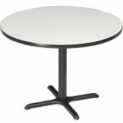 """Interion® 36"""" Round Counter Height Restaurant Table, Gray"""