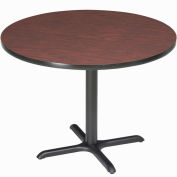 """Interion® 42"""" Round Counter Height Restaurant Table, Mahogany"""
