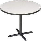 """Interion® 42"""" Round Restaurant & Lunchroom Bar Height Table, Gray"""