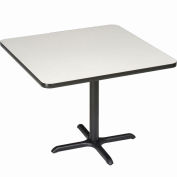 """Interion® 42"""" Square Counter Height Restaurant Table, Gray"""