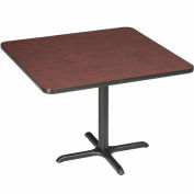 """Interion® 36"""" Square Counter Height Restaurant Table, Mahogany"""