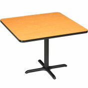 """Interion® Restaurant & Lunchroom Square Counter Height Table, 42""""Lx42""""Wx36""""H, Oak"""