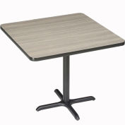 """Interion® 42"""" Square Bar Height Restaurant Table, Charcoal"""