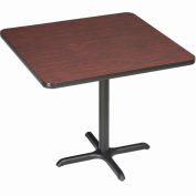 """Interion® Restaurant & Lunchroom Square Bar Height Table, 36""""Lx36""""Wx42""""H, Mahogany"""