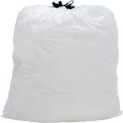 Draw-Tuff® sacs à ordures industriel Drawstring, 13 Gal, blanc, 0,7 Mil, 300/caisse