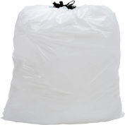 Industrial Drawstring Trash Bags, 13 Gal, White, 0.7 Mil, 300/Case