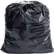Industrial Drawstring Trash Bags, 55 Gal, Black, 1.4 Mil, 100/Case