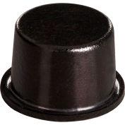 """Pieds en caoutchouc antidérapants - cylindrique plat - noir - 0,400"""" H x 0,650"""" W - BS11 - Pkg de 2560"""