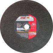 "Cut Off Wheel Type 1 Stud King 12"" x 3/32"" x 1"" Aluminum Oxide - United Abrasives - Sait 24030 - Pkg Qty 10"