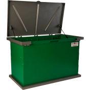 """TuffBoxx Grizzly Animal Resistant Storage Bin - 48"""" x 24"""" x 30"""" - Green/Charcoal"""