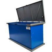 """TuffBoxx Kodiak Animal Resistant Storage Bin - 60"""" x 24"""" x 30"""" - Blue/Charcoal"""