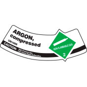 5/Pack, Dura-Vinyl™, Argon comprimé, Accuform MCSLARGXVE gaz cylindre épaule Label