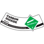 Accuform MCSLCAGXVE Gas Cylinder Shoulder Label, Carbon Dioxide, Dura-Vinyl™, 5/Pack
