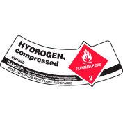 Accuform MCSLHYRVSP gaz cylindre épaule Label, hydrogène comprimé, vinyle adhésif, 5/Pack