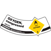 Accuform MCSLOXYVSP Gas Cylinder Shoulder Label, Oxygen Compressed, Vinyl Adhesive, 5/Pack