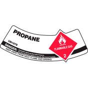 Accuform MCSLPRRXVE Gas Cylinder Shoulder Label, Propane, Dura-Vinyl™, 5/Pack