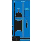 Nettoyer les signes Accuform & Mop Store-Board™, Max devoir aluminium, bleu sur fond noir