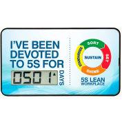 Accuform SCD501 portable Digi-Day® tableau de bord - j'ai été consacrée à 5 s