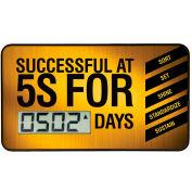 Tableau de bord de la Digi-Day® portable Accuform SCD502 - réussie à 5 s