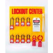 ZING RecycLockout Lockout Station, 8 Padlock, Stocked, 7114