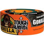 Gorilla Tough & Wide Duct Tape, Noir, 2,88» x 25 ans., qté par paquet : 6