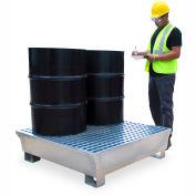 UltraTech Ultra-Spill Pallet® 1182 - 4 Drum Steel Spill Pallet - 68 Gallon Capacity