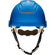 MSA Nexus Linesman Helmet, Non-Vented, Blue, 10186478