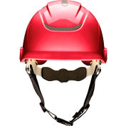 MSA Nexus Linesman Helmet, Non-Vented, Red,10186481