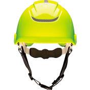 MSA Nexus Linesman Helmet, Vented, , Hi-Viz Yellow, 10186488