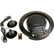 Spracht® CP2018 Aura SoHo Plus Conference Phone, 3 Built-In/2 External Microphones, Black