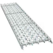 "UNEX® SW 10'L 24""W Straight Galvanized Steel Skatewheel Conveyor - 22"" BF - 20"" WPF"