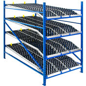 """UNEX RR99S2W4X6-L Additional Level For Gravity Flow Roller Rack with Wheel Bed 48""""W x 72""""D"""