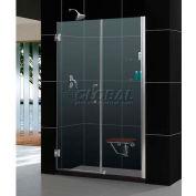 """DreamLine™ Unidoor douche réglable sans cadre porte son-20607210S-04 W/verre étagères, 60""""-61»"""