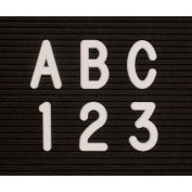 """United Visual Products 2"""" White Helvetica Letter Sprue Set of 145 Characters"""