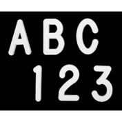 """United Visual Products 1"""" Black Helvetica Letter Sprue Set of 145 Characters"""