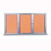 """United Visual Products W 96"""" x 48"""" H 3 portes intérieur visages fermés avec rayon cadre"""