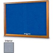 "United Visual Products W 72"" x 48"" H coulissante verre gris Tack simple planche avec charpente en chêne clair"