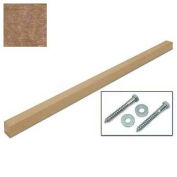 """United Visual Products 4""""W x 4""""D x 96""""H Single Weathered Wood Post and Hardware"""