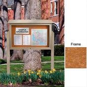 """United Visual Products 45"""" W x 30"""" H Liège charnière haut le centre de messages simple porte avec l'armature de cèdre"""